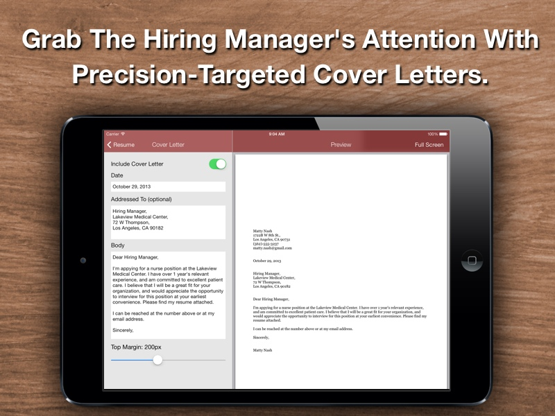 Resume Star: Top Rated Resume Designer For The IPhone, IPad, And IPod Touch