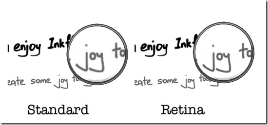 Inkflow retina vs regular