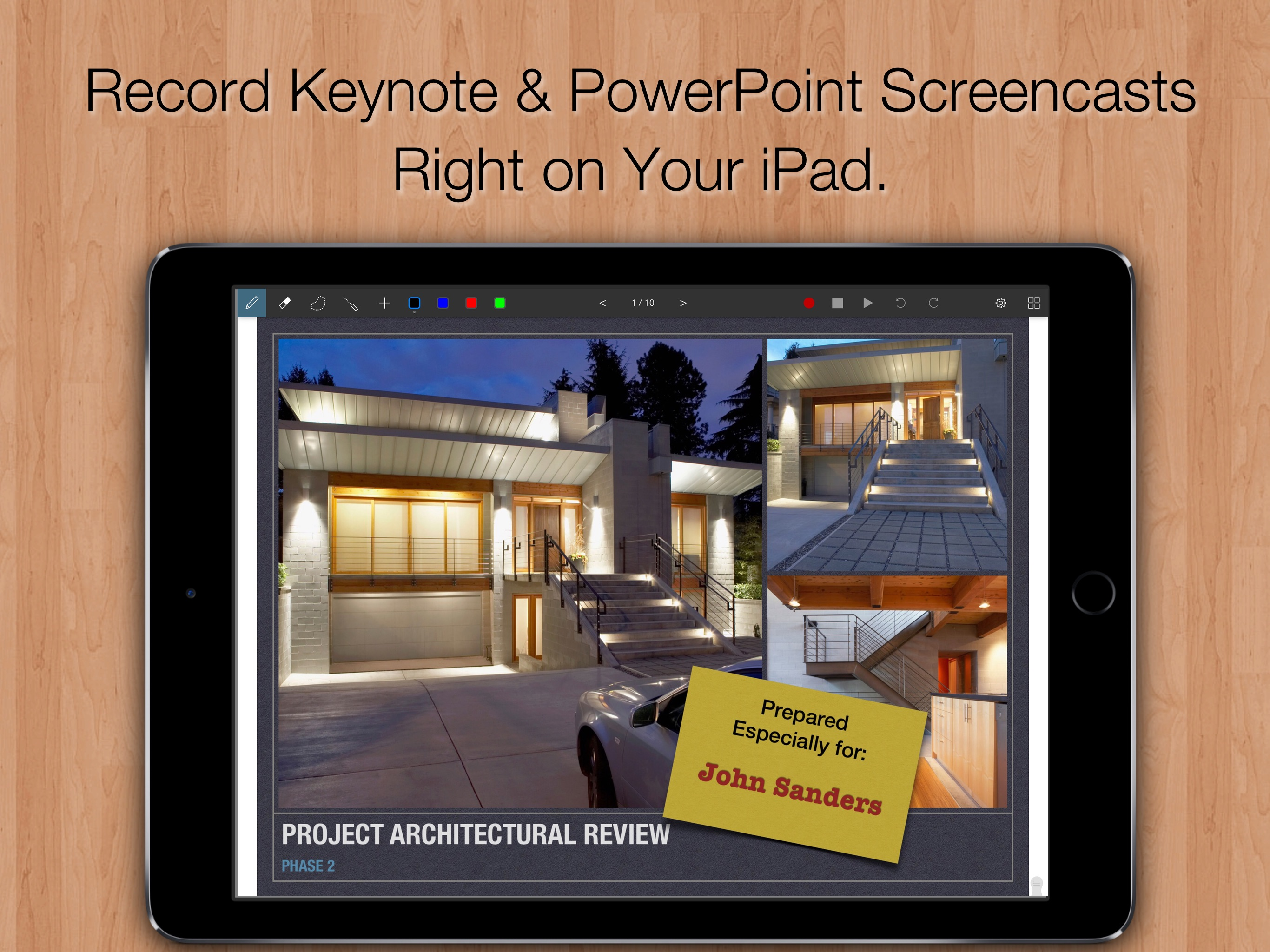 Slidecast: PowerPoint and Keynote Whiteboard Video